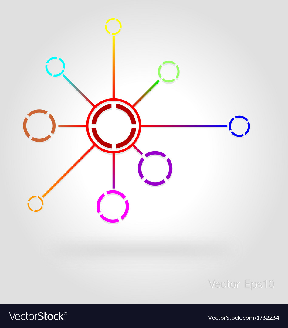 Connected by a colored cell graphic vector