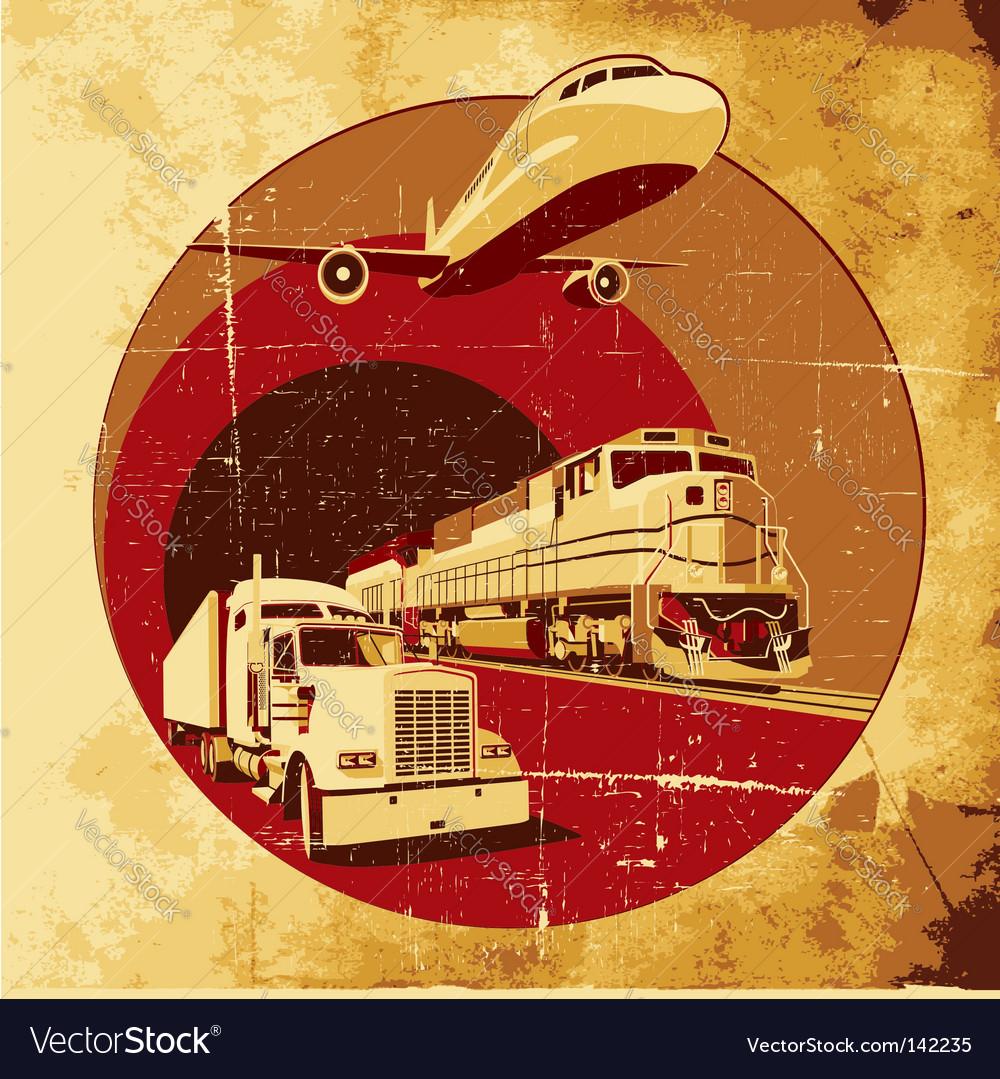 Cargo transportation grunge vector