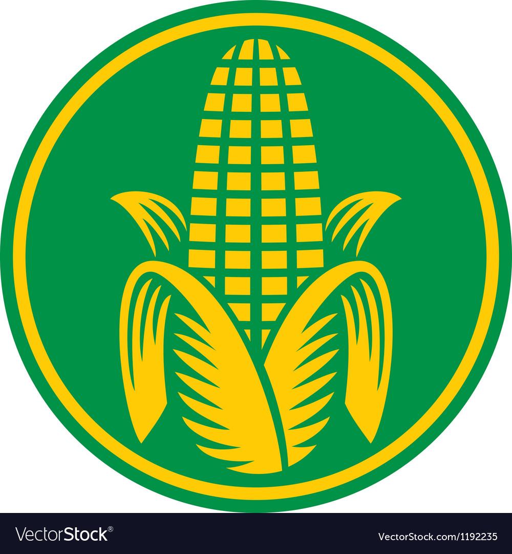 Corn symbol vector