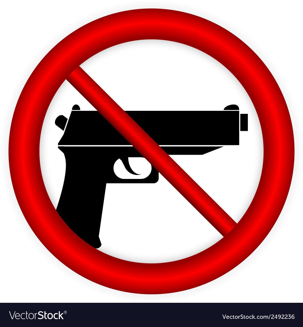 No gun sign vector