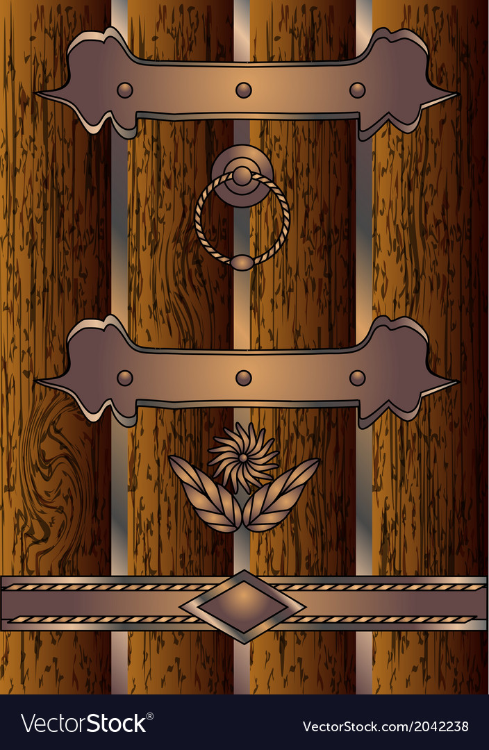 Antique door vector