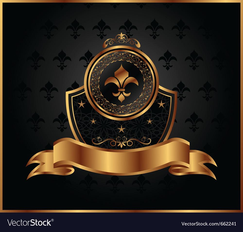 Royal golden frame for design - vector