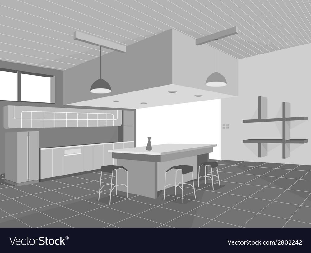 Kitchen layout vector