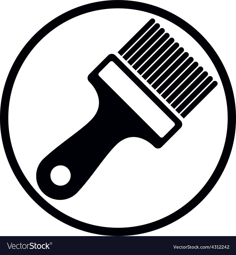 Renovation and repair instrument paint brush vector
