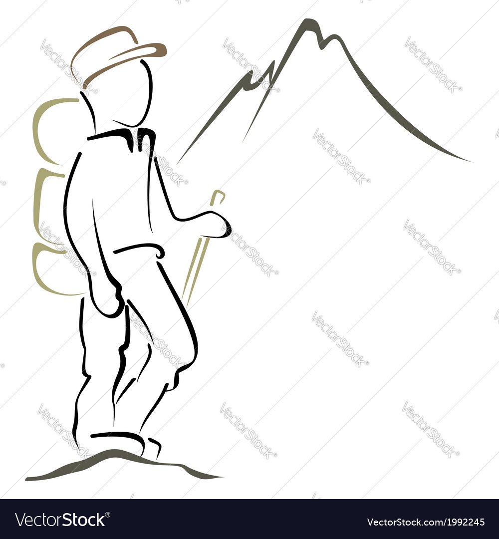 Mountaineering symbol vector