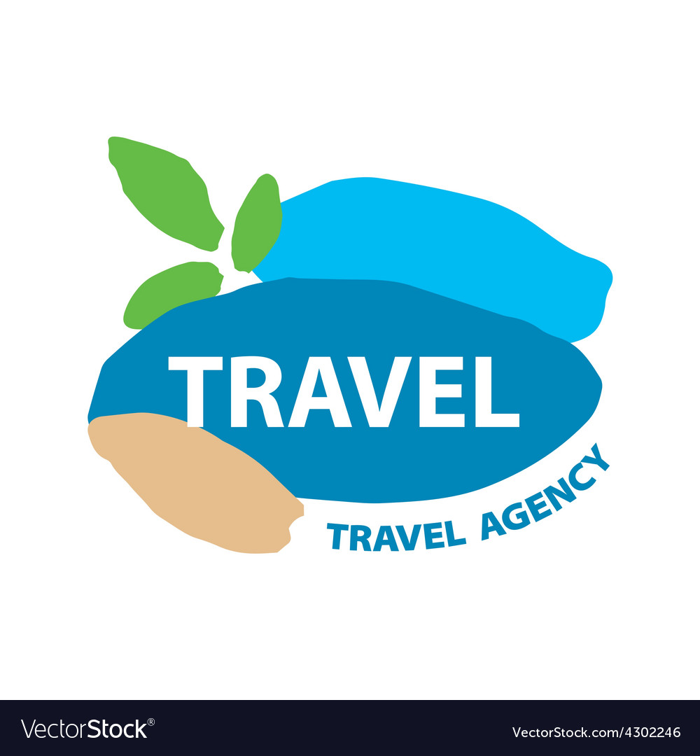 Abstract logo for recreation and travel vector