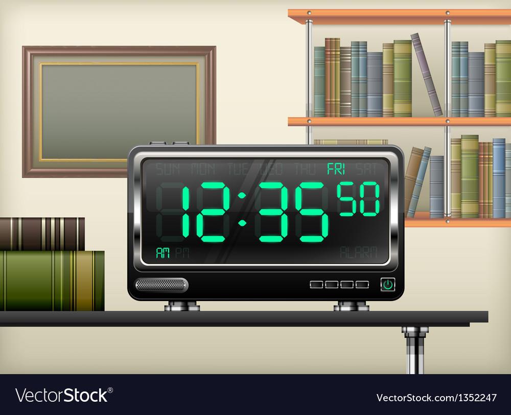Digital clock interior vector