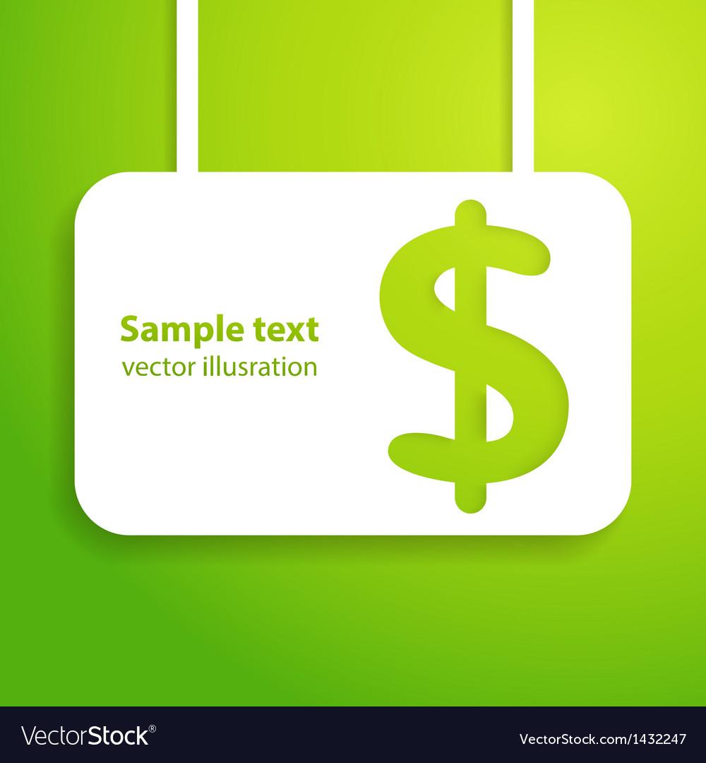 Dollar sign applique background vector