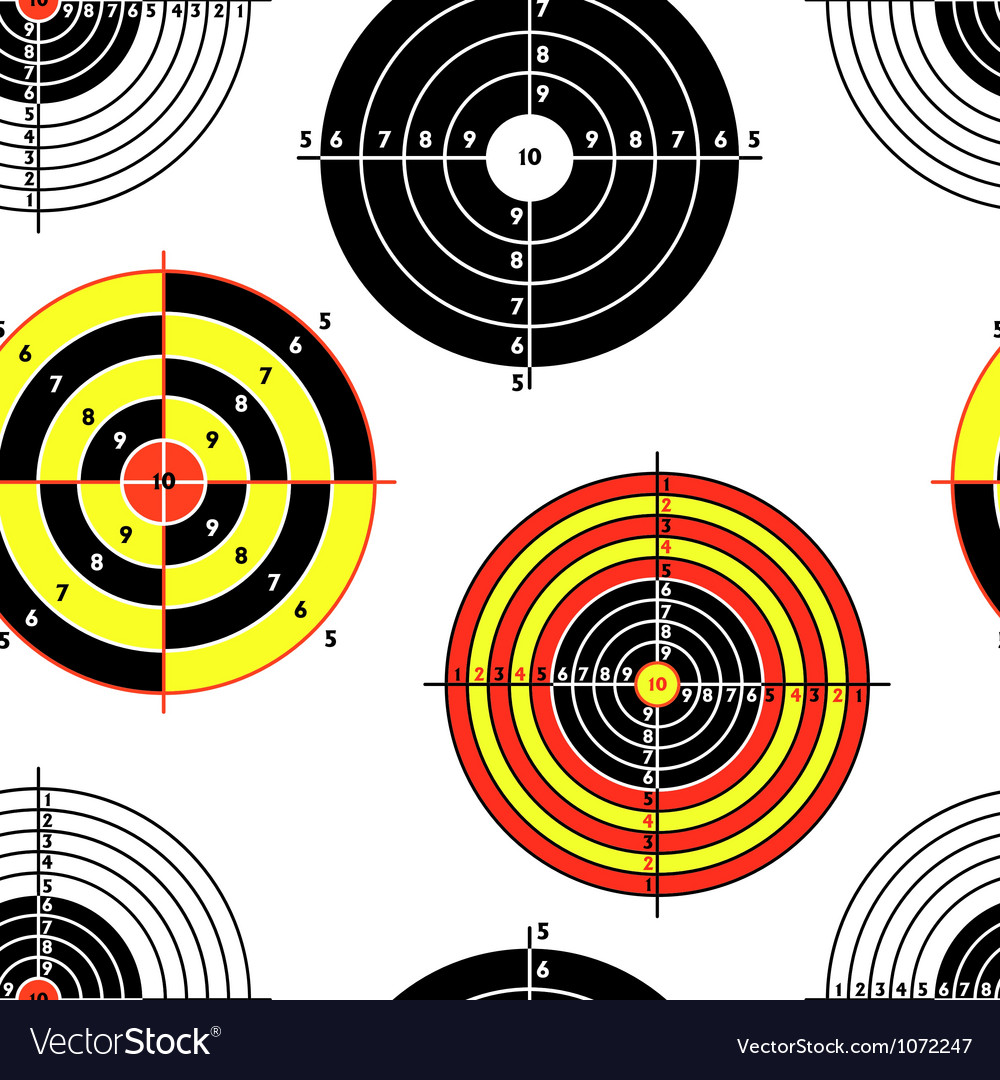 Targets for practical pistol shooting seamless wal vector