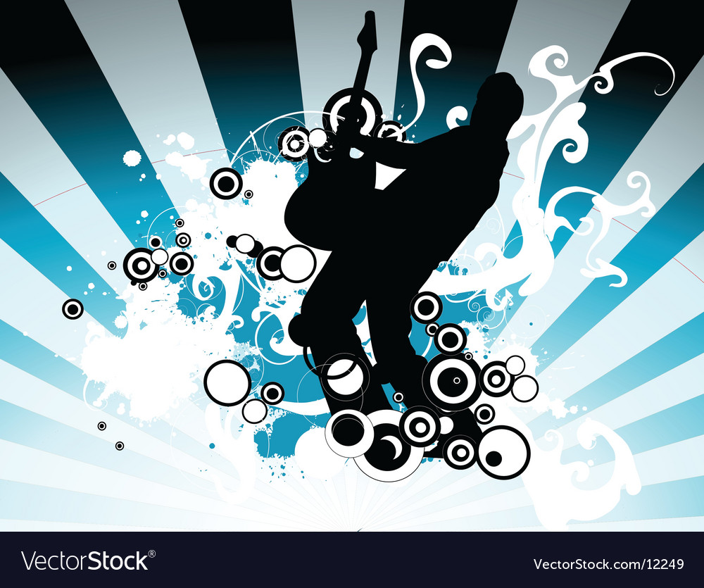 Rock music illustration vector