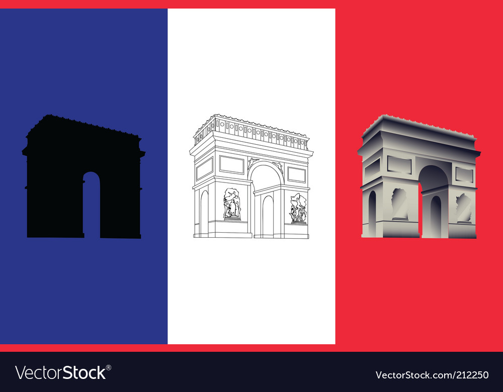 Arc de triomphe vector