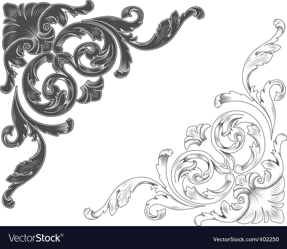 Ornamental corners vector