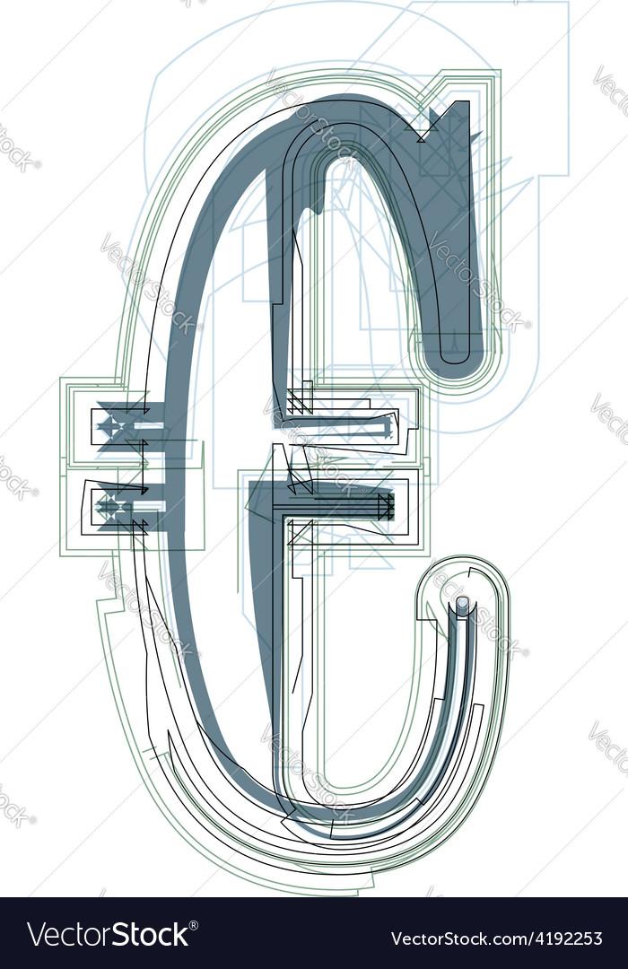 Abstract euro sign vector