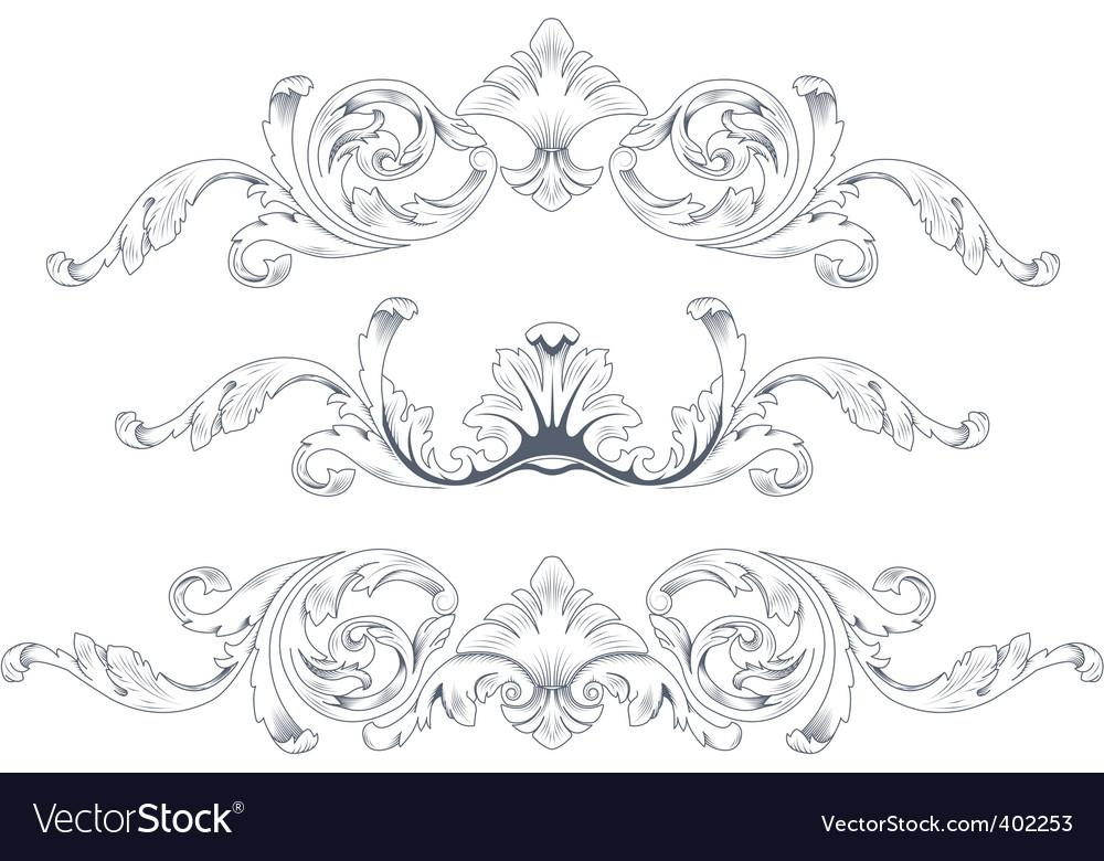 Ornamental elements vector