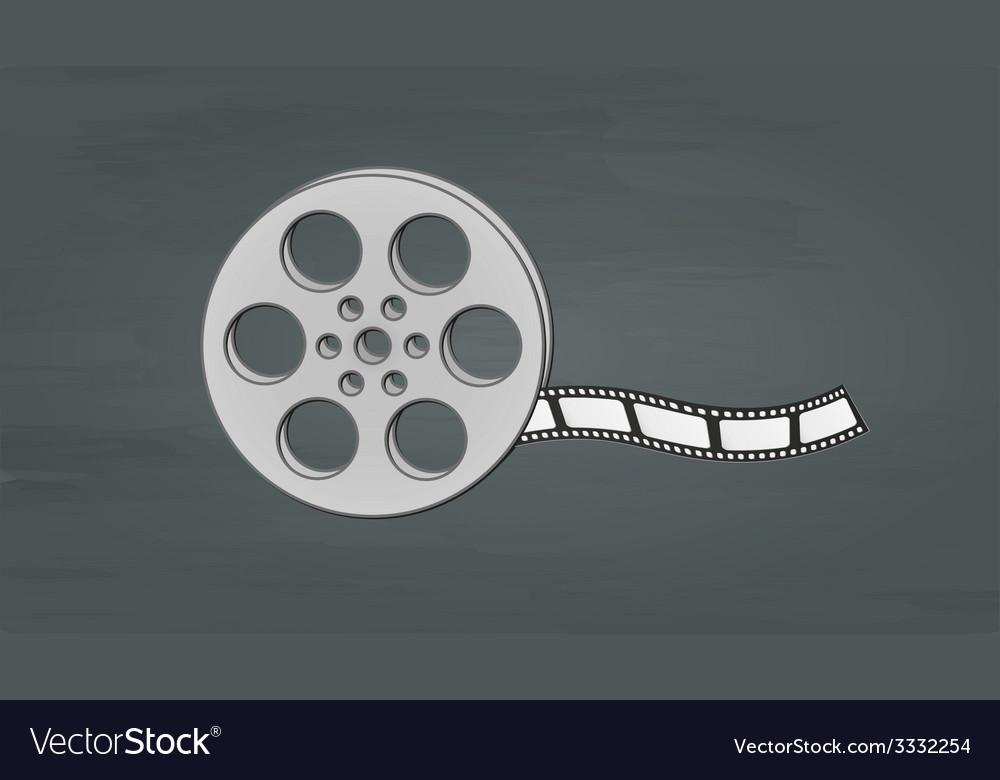 Filmstrip and reel vector
