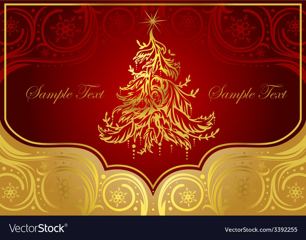 Classic christmas tree vector