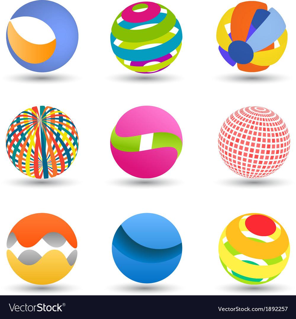 Abstract creative spheres vector