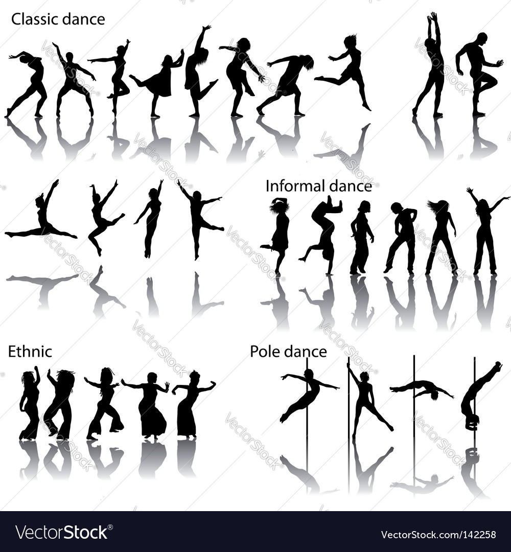 Dancer silhouettes vector