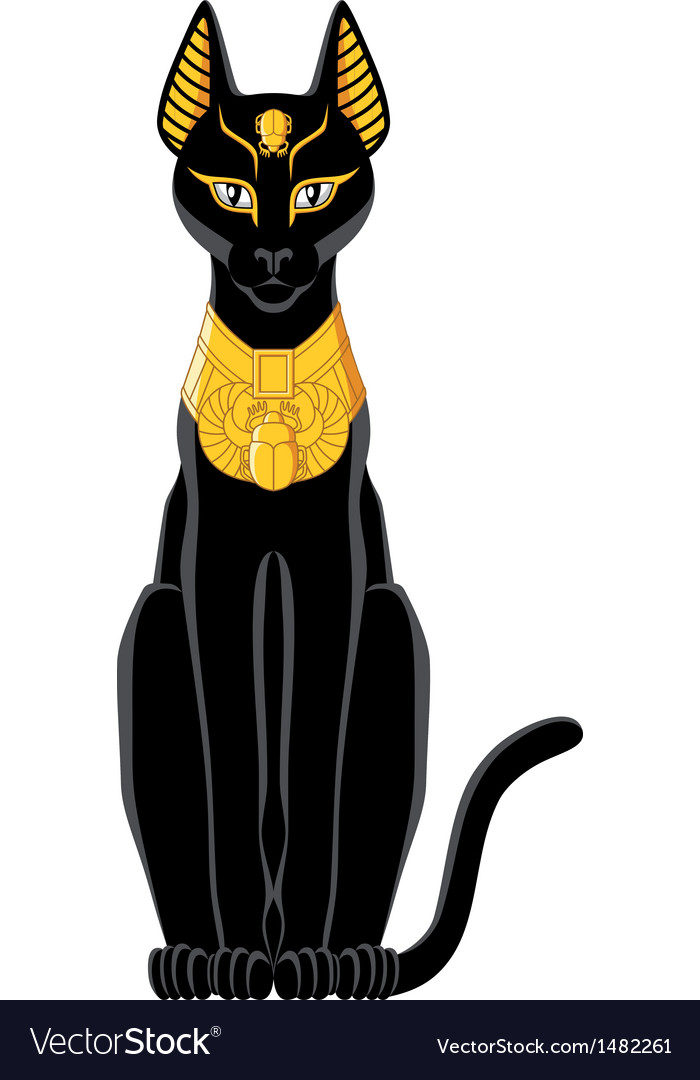 Egyptian cat vector