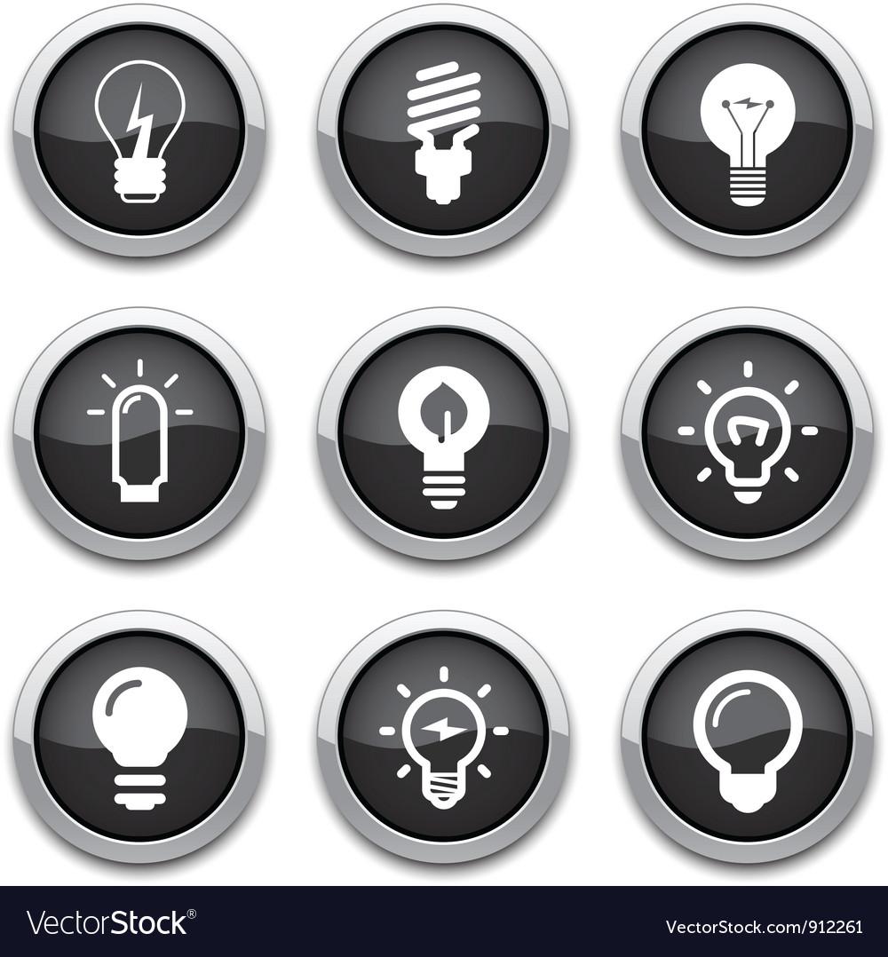 Light bulb buttons vector