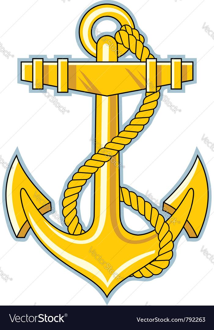 Gold anchor vector