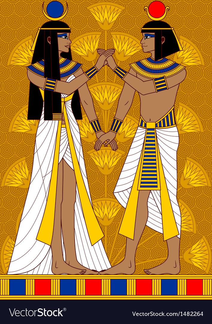 Egyptian couple vector