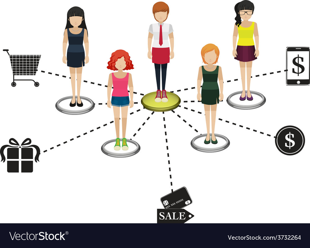People with different goals vector