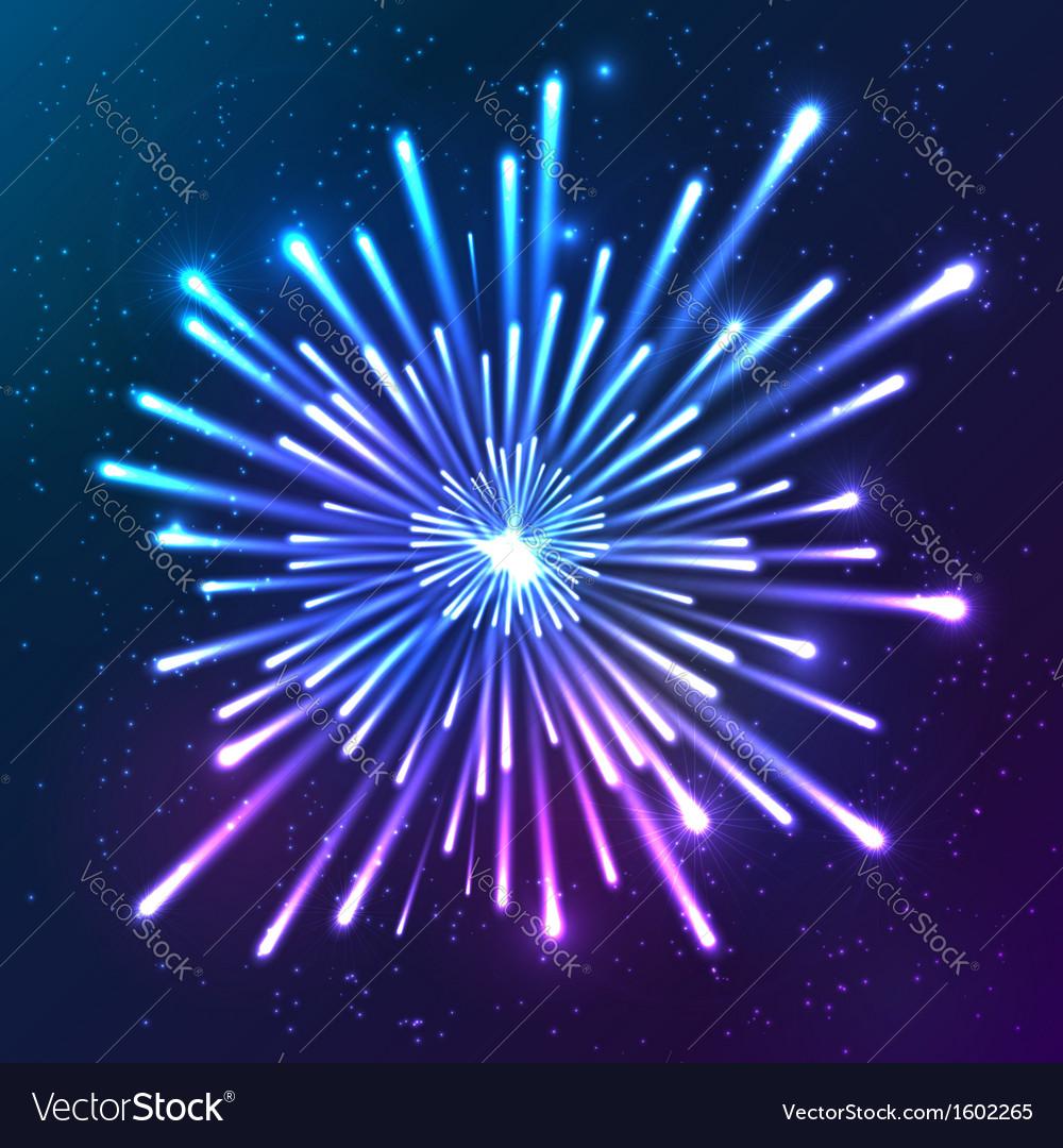 Bright neon firework vector