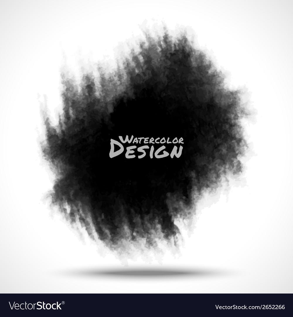 Black watercolor splatter vector