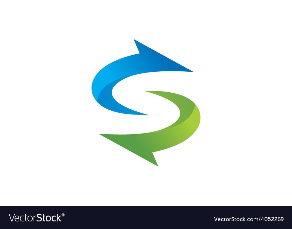 Circle arrow direction process abstract logo vector