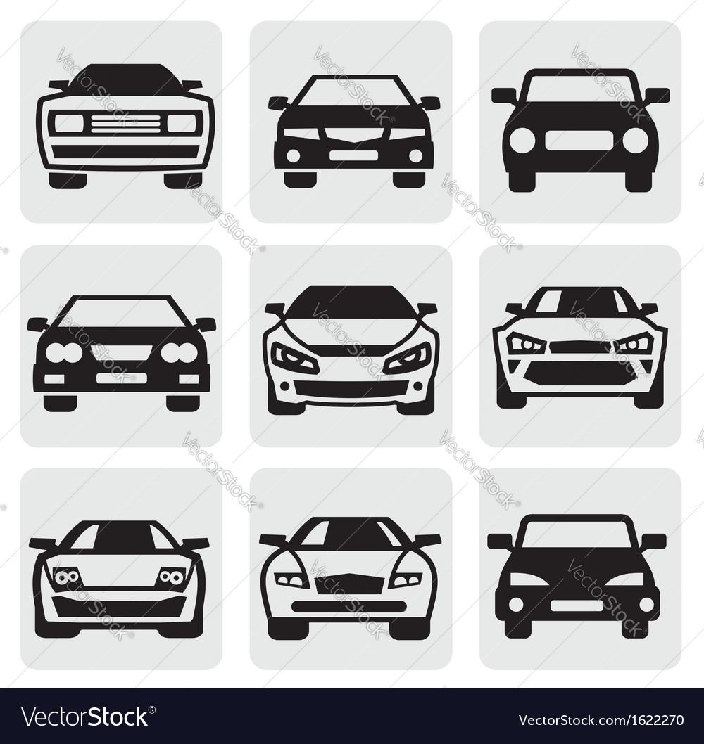 Car symbols set vector