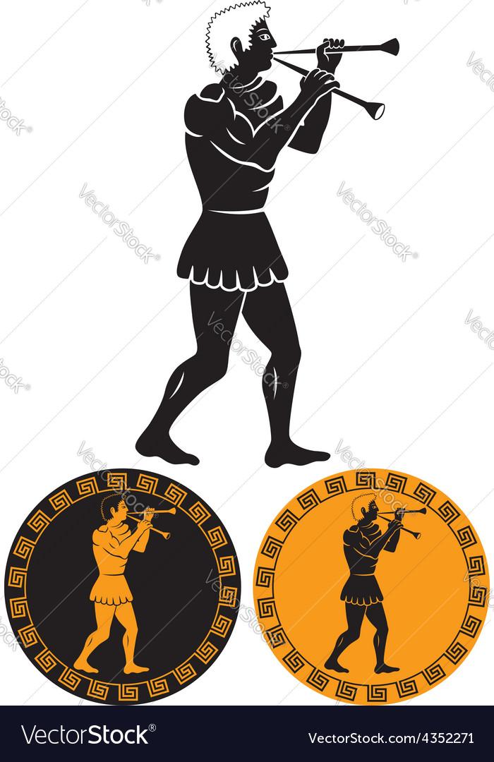 Ancient greek musician vector