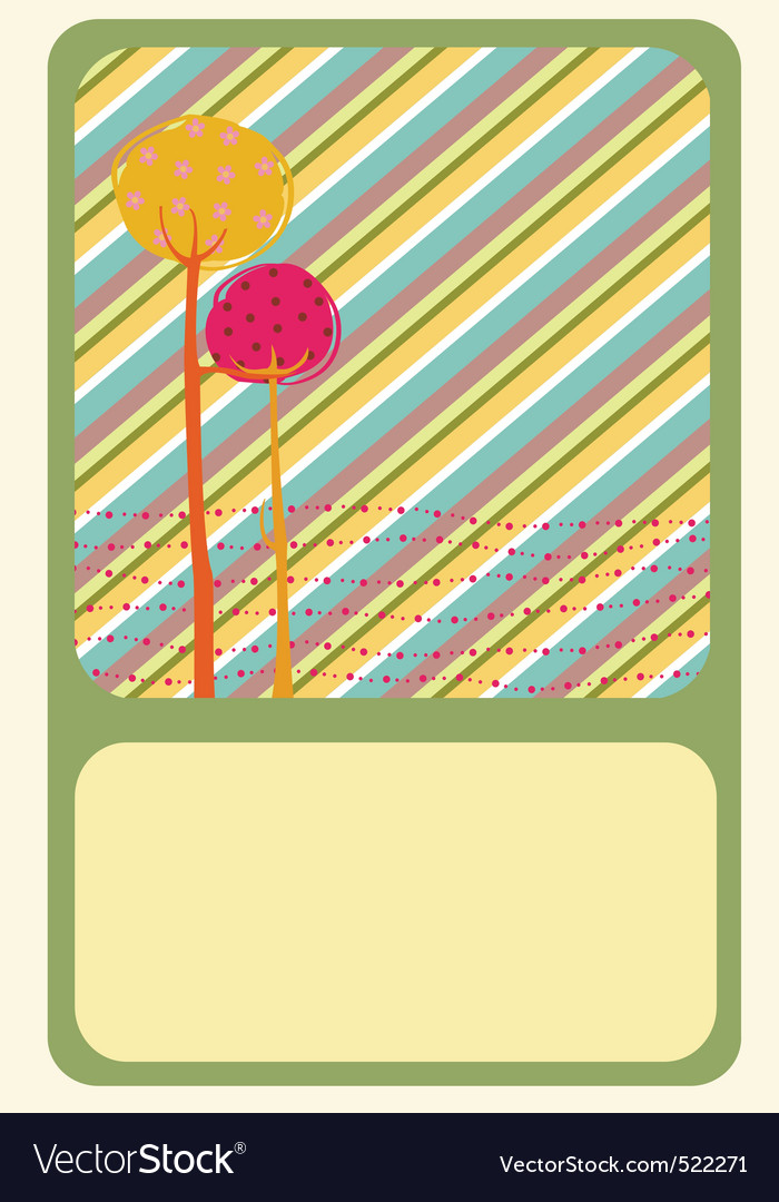 Greeting card vector