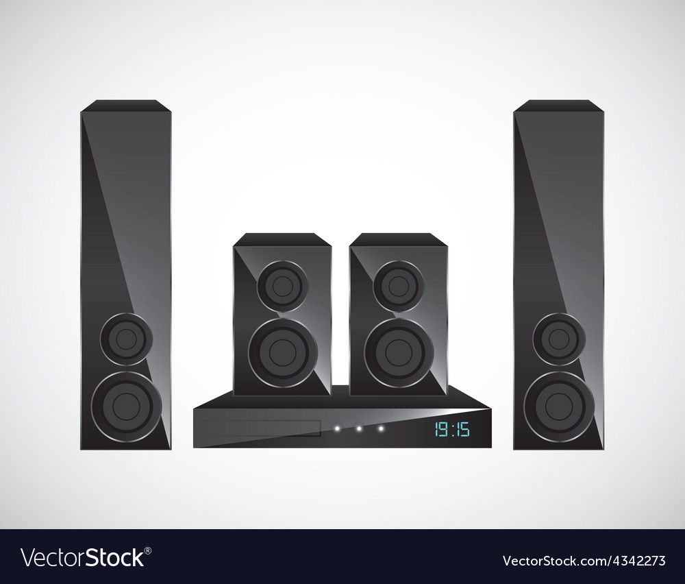 Home theater vector