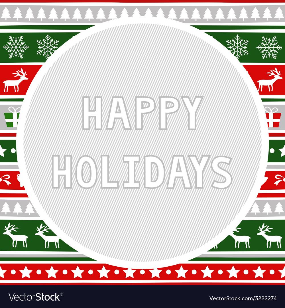 Happy holidays2 vector