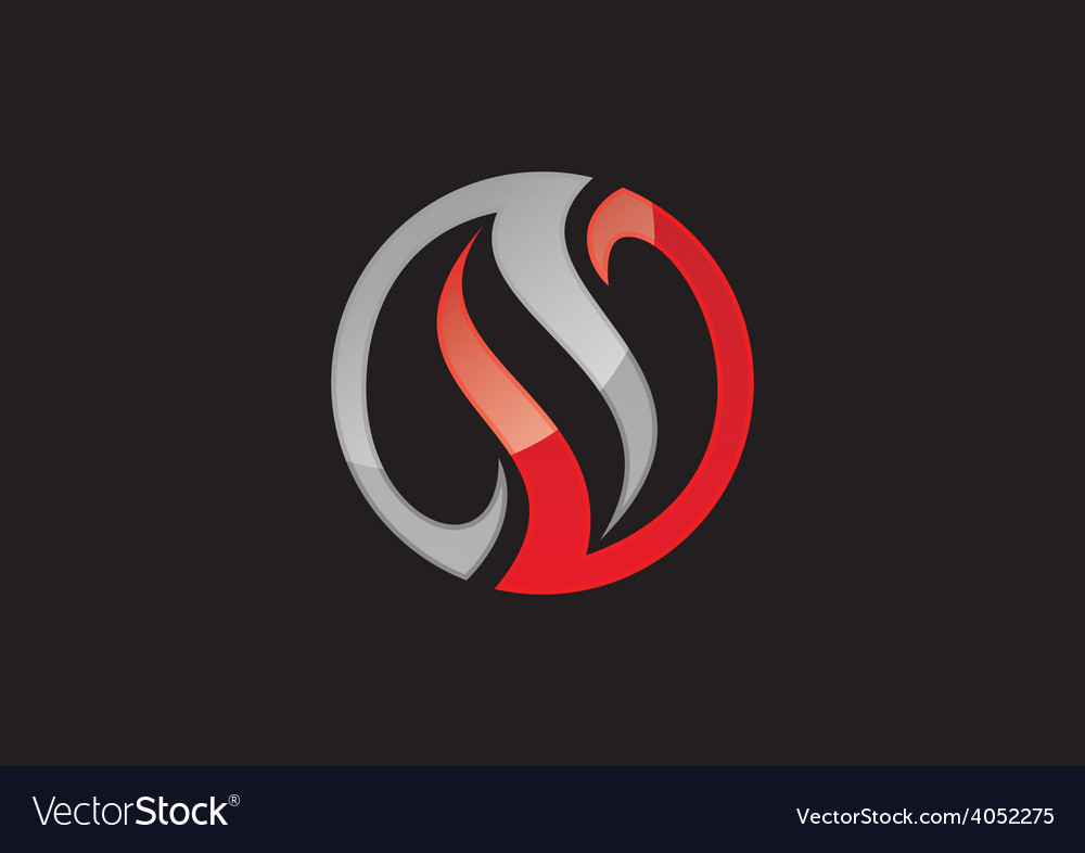 Circle balance swirl abstract business logo vector