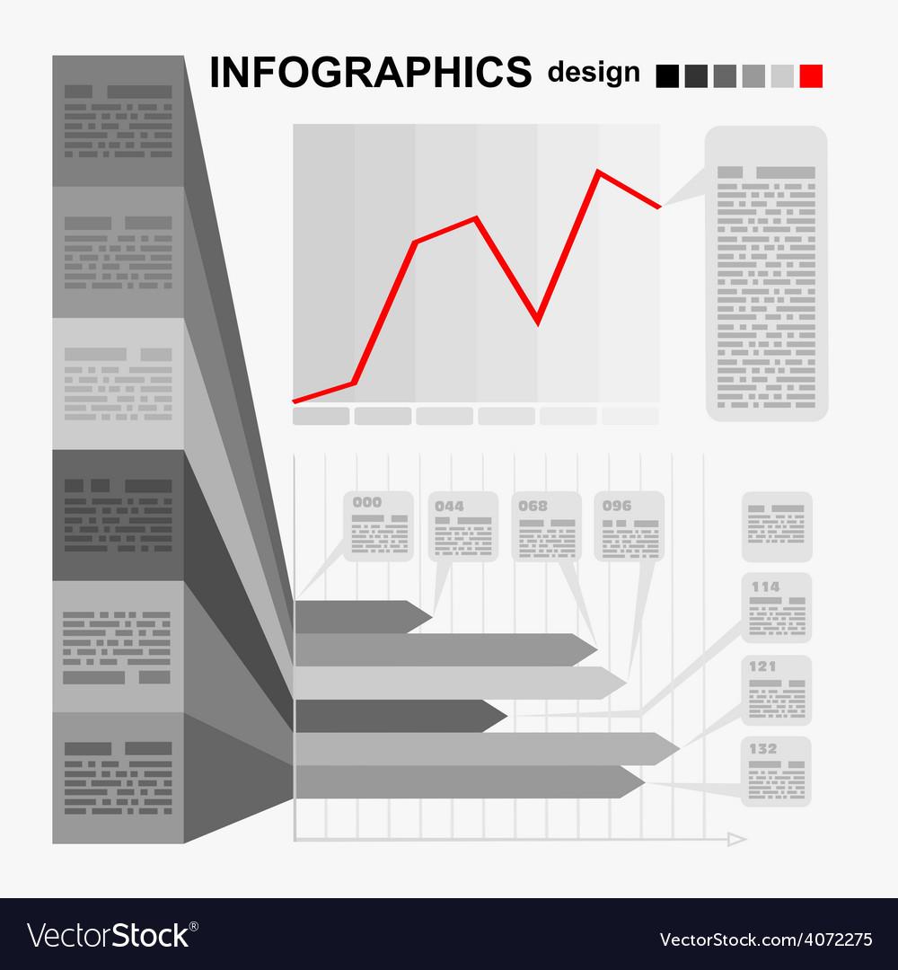 Conceptual blank - monochrome infographics design vector