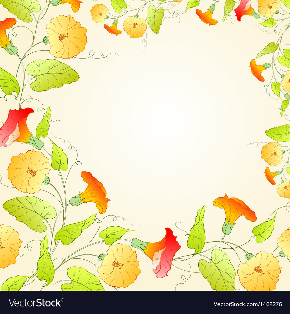 Background with flower wreath for romantic design vector