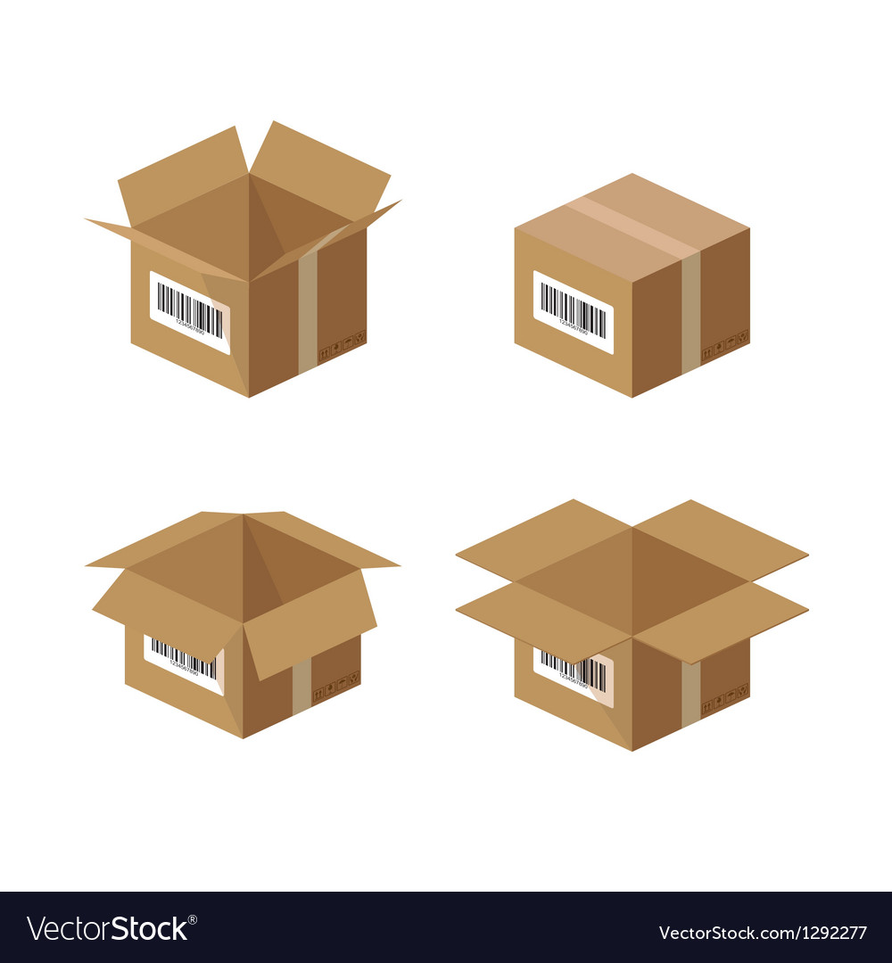 Box packaging vector