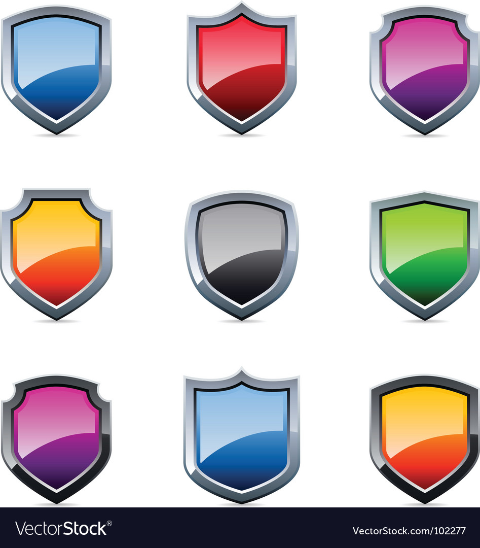 Shield icons vector