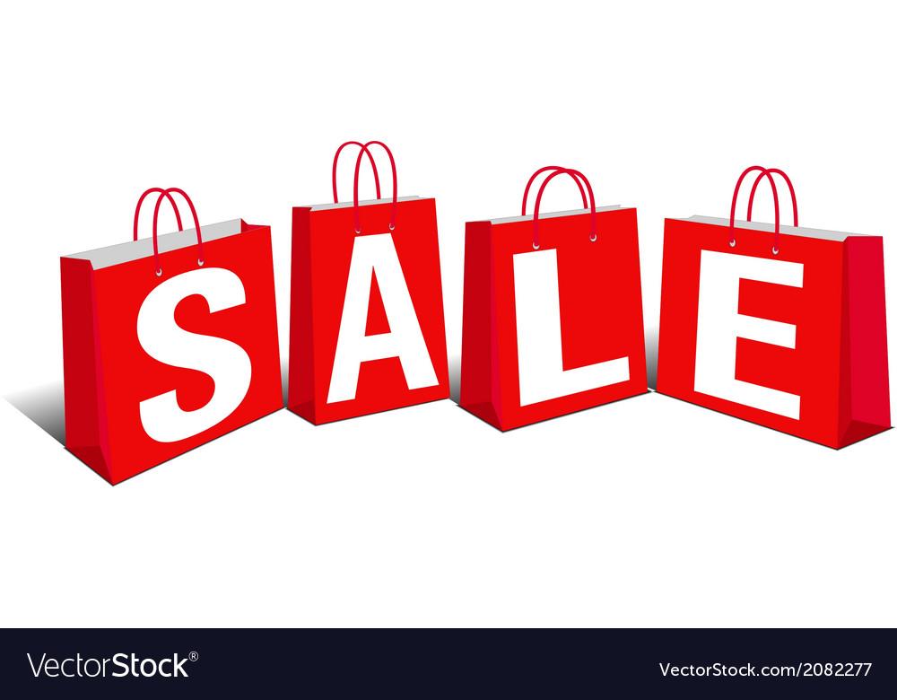 Shopping bag sale bags vector