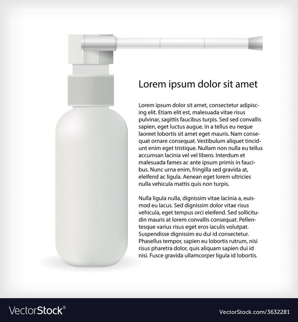 For throat spray vector
