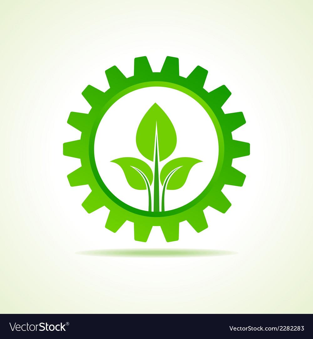 Green energy part icon design concept vector