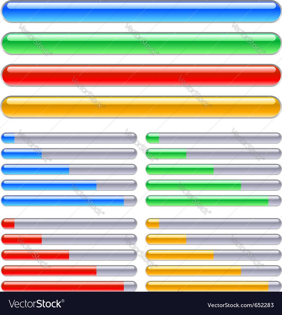 Loading progress bars vector
