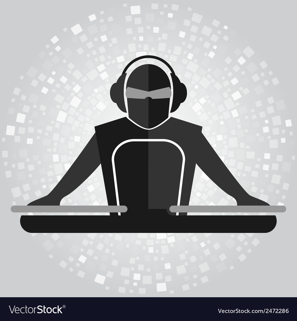 Dj emblem copy vector