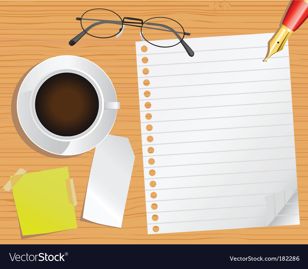 Page and desk vector