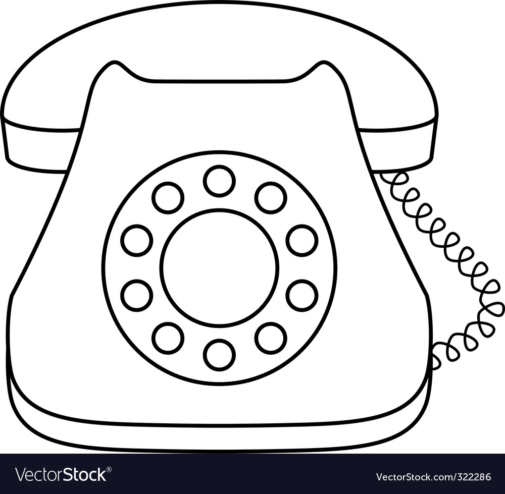 Phone dial vector