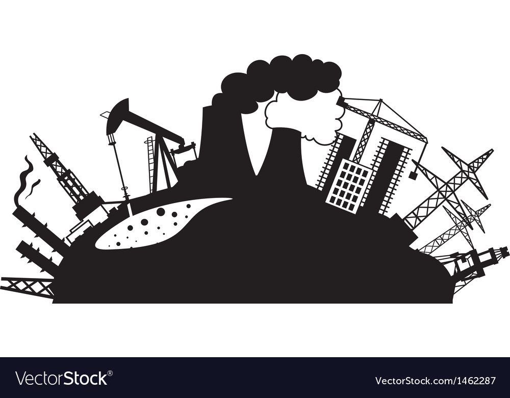 Industrial design isolated over white vector