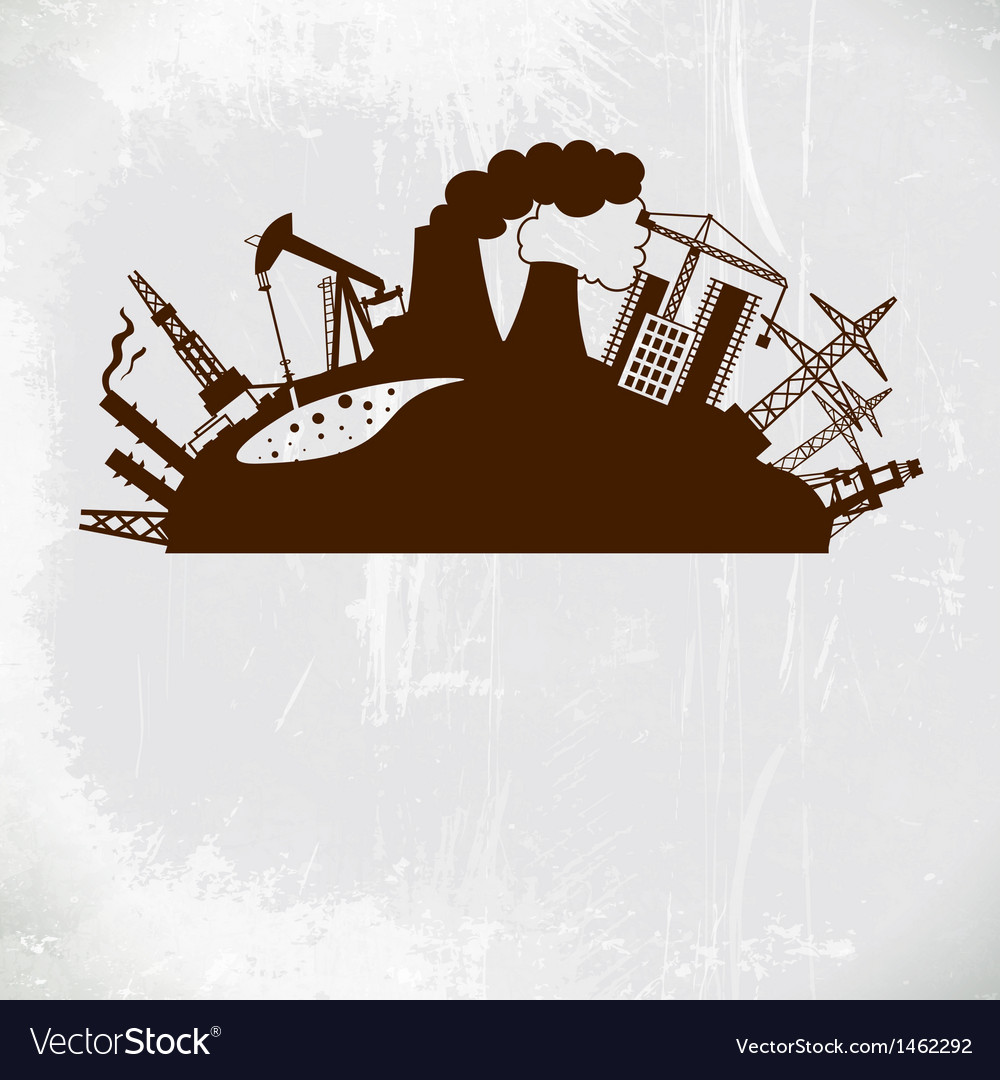 Chemical industry energy and gas refinery plants vector