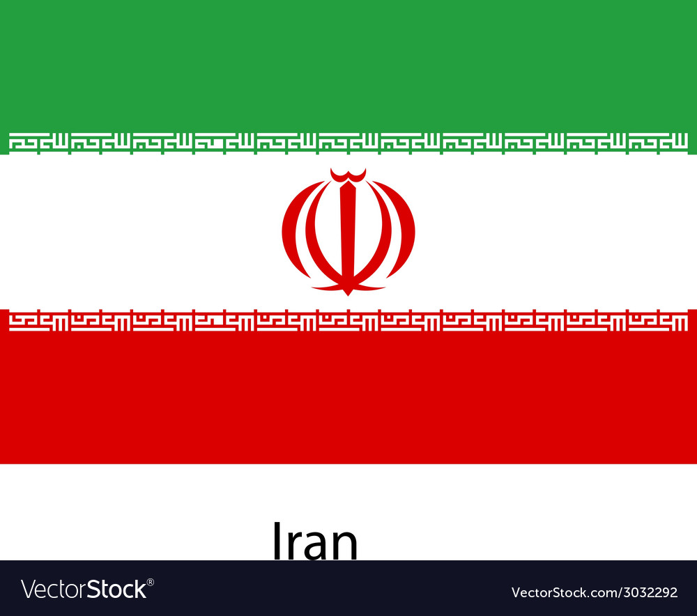 Flag of the country iran vector